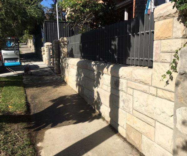 After Pressure Cleaning Stone Walls